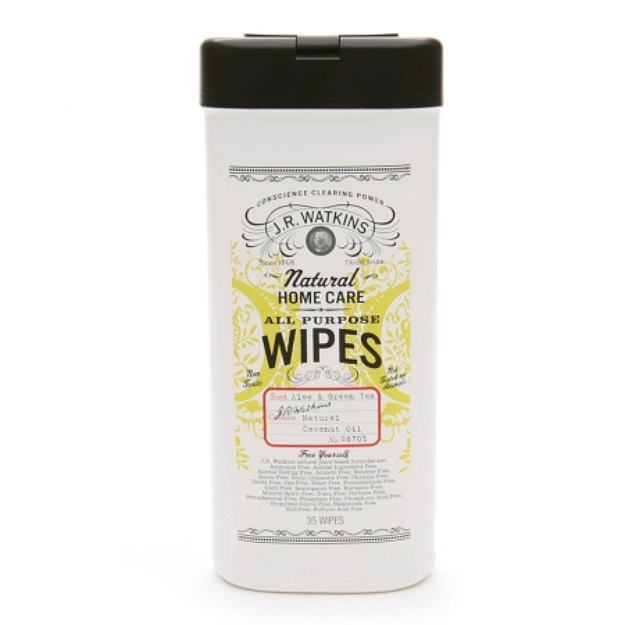 J.R. Watkins Natural Home Care Aloe & Green Tea All Purpose Wipes