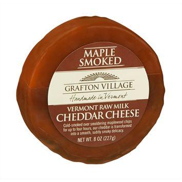 Grafton Village Cheese Wheel Cheddar Maple Smoked
