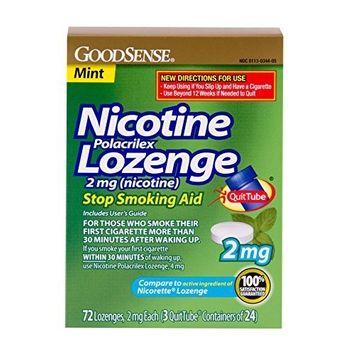 Good Sense GoodSense Nicotine Lozenge, 2mg (nicotine), Mint, 72-count, 3x24p