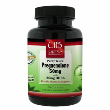Ultra Botanicals - Pregnenolone plus DHEA Female Hormone Support - 60 Capsules