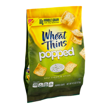 Nabisco Wheat Thins Popped Chips Sour Cream & Onion Flavor