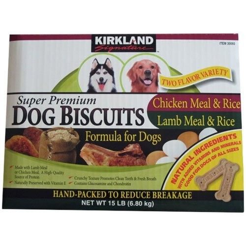 Kirkland Signature Super Premium Dog Biscuits Two Flavor Variety 15lb