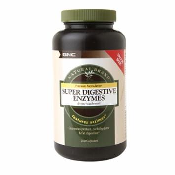 GNC Natural Brand Super Digestive Enzymes, Capsules, 240 ea