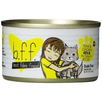 Best Feline Friend Cat Food, Tuna & Chicken 4Eva Recipe, 3-Ounce Cans (Pack of 12)