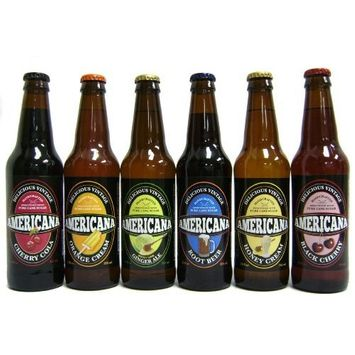 Orca Beverage (Mix case) Vintage soda - Americana Variety - Mix of 6 flavors (12 pack)