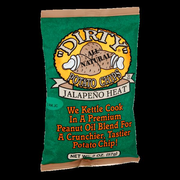 """Dirty"" Jalapeno Heat Potato Chips"