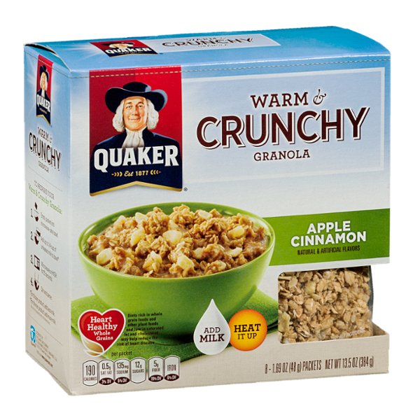 Quaker® Warm & Crunchy Granola Apple Cinnamon