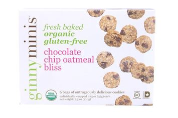 Ginnybakes Ginnyminis Organic Gluten-Free Cookies Chocolate Chip Oatmeal Bliss 7.5 oz