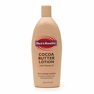 Black & Beautiful Cocoa Butter Rich Cream Lotion with Vitamin E