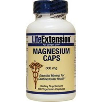 Life Extension Magnesium 500 Mg Vegetarian Capsules, 100 Count