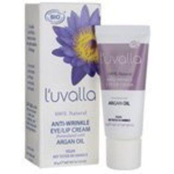 L'uvalla 100% Natural Anti-Wrinkle Eye/Lip Cream .7 oz Cream