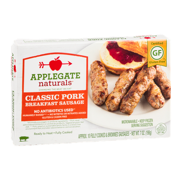 Applegate Naturals Classic Pork Breakfast Sausage - 10 CT