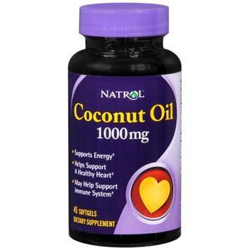 Natrol Coconut Oil 1000 mg, Softgels