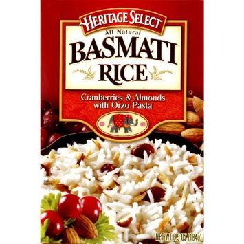 Heritage Select Basmati Rice Cranberries & Almonds Flavor 6.5 ounce Pkg