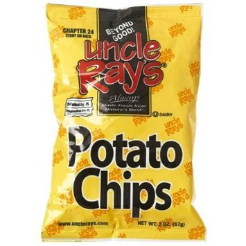 Uncle Rays Regular Potato Chips, 2-Ounces (Pack of 24)