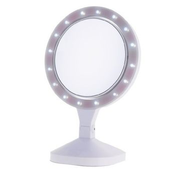 Danielle Enterprises Ultra Led Beauty Vanity Mirror 10x, White, 8 Inches X 15.75 High