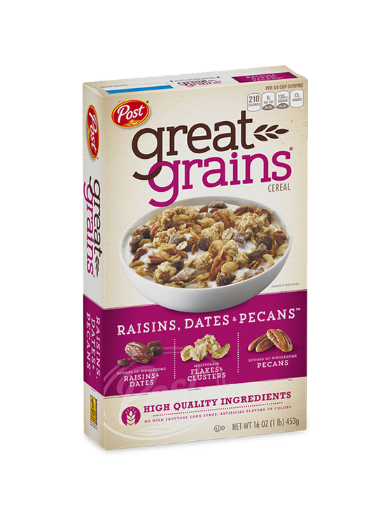 Post Great Grains Cereal Raisins, Dates & Pecans