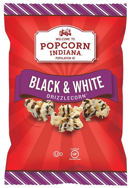 Popcorn Indiana  Black & White Drizzlecorn
