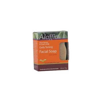 Alaffia- Shea Butter & Goat Milk Daily Toning Face Soap, Sweet Lavender- 3 oz