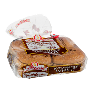 Arnold Whole Grains Sandwich Rolls 100% Whole Wheat - 8 CT