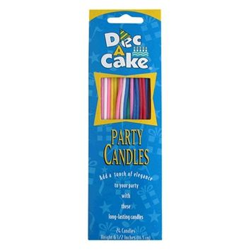 Dec A Cake Dec-A-Cake Party Candles, 24 Count Package (Pack of 12)