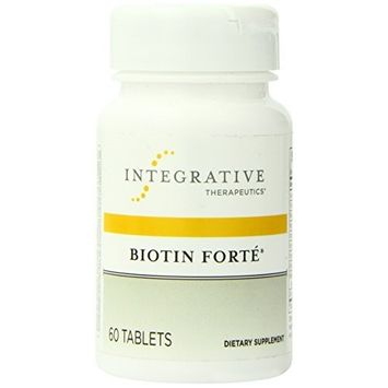 Integrative Therapeutic's Integrative Therapeutics - Biotin Forté® with Zinc (3 mg) - 60 tabs (Premium Packaging)