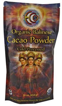 Earth Circle Organics - Organic 100 Balinese Cacao Powder - 16 oz.
