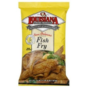 Louisiana Fish Fry New Orleans Style Fish Fry w/ Lemon Mix, 22-Ounce (Pack of 6)