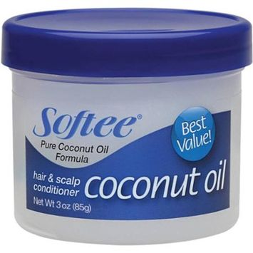 Softee Coconut Oil Hair & Scalp Conditioner, 3 oz