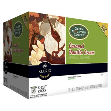 Keurig Green Mountain Coffee Caramel Vanilla Cream Light Roast Coffee