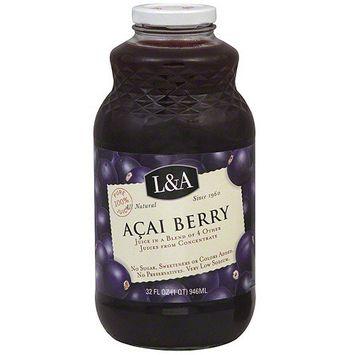 L A L&A Acai Berry Juice, 32 oz (Pack of 6)