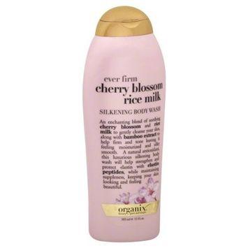 OGX® Ever Firm Cherry Blossom Rice Milk, Silkening Body Wash