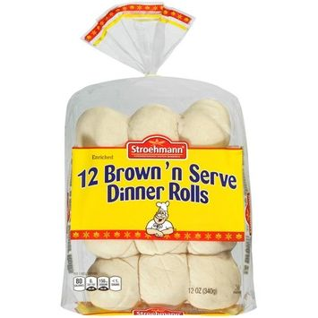 Stroehmann Rolls Stroehmann Brown 'n Serve Dinner Rolls, 12 oz