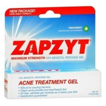 Wlatman Pharmaceuticals Zapzyt Acne Treatment Gel, 1 Oz