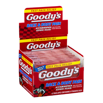 Goody's Back & Body Pain Acetaminophen Aspirin Powders - 12/6 CT