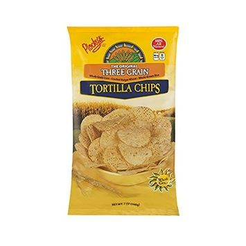 Plocky's Tortilla Chips, Three Grain, 7-Ounce Bags (Pack of 12)