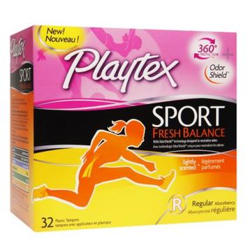 Playtex Sport Fresh Balance Regular Absorbency Tampons - 32 Count