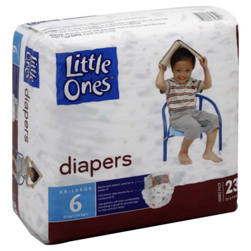 Little Ones Diapers, Size 6 (35+ lb), Jumbo Pack 23 diapers - KMART CORPORATION