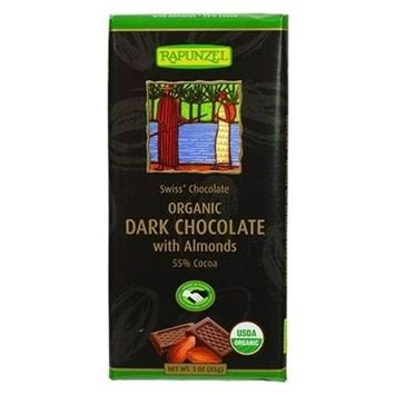 Rapunzle 30223 Organic Dark Chocolate Bar With Almond