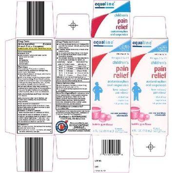 Equaline Children's Pain Relief Bubble Gum Flavor 4 Fl. Oz.