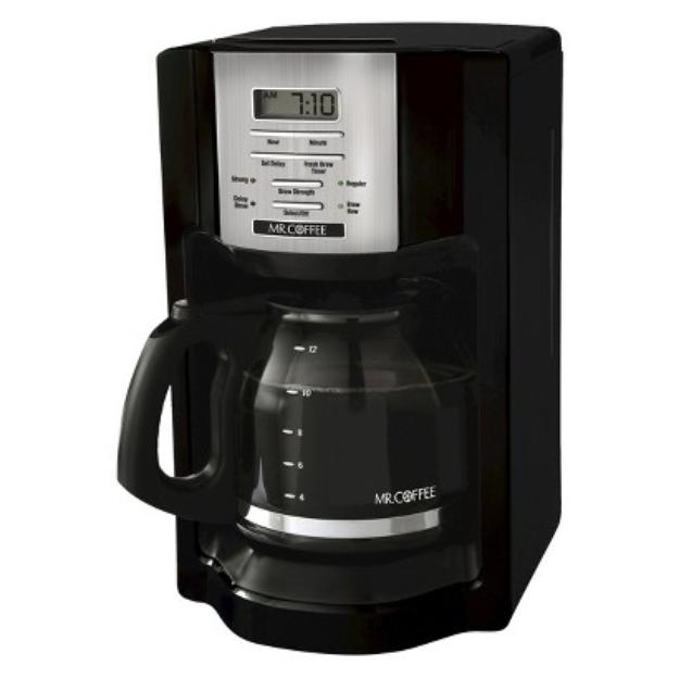 Mr. Coffee Black 12-Cup Programmable Coffeemaker