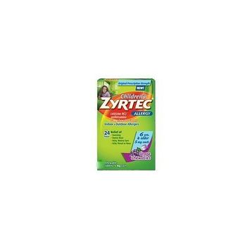 Zyrtec Allergy Children's Cetrizine Chewable Tablets, Grape