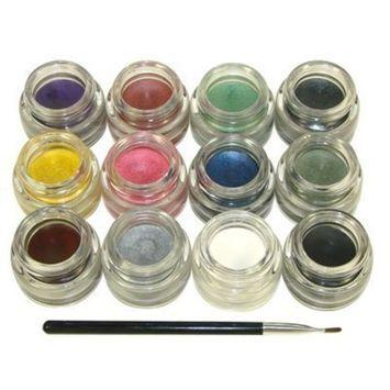 Starry Long Lasting Waterproof Smudge proof Eyeliner Gel All 12 Colors