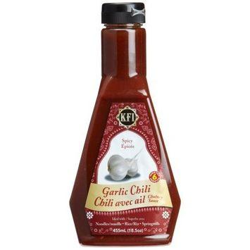 KFI Garlic Chili Chutney Sauce, spicy, 15.4-Ounce Bottles (Pack of 3)