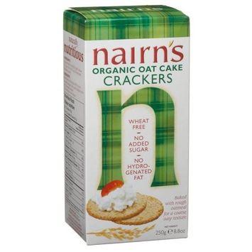 Nairns Nairn's Organic Oat Cake Crackers, 8.8-Ounce Box