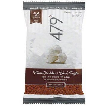 479 Degrees 479deg White Cheddar + Black Truffle Artisan Popcorn, 4 oz, (Pack of 30)