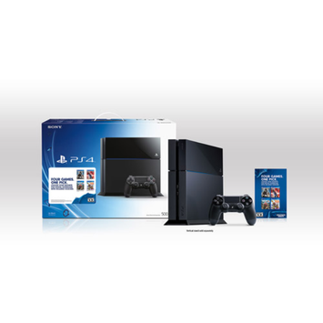 Sony PlayStation 4 Console Bundle with Downloadable Game of Choice Voucher