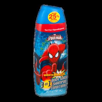 Marvel Ultimate Spiderman 3-In-1 Body Wash Shampoo Conditioner Berry Blast