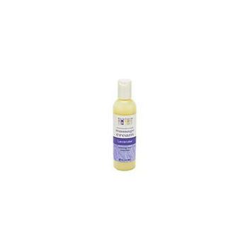Aura Cacia Lavender  Aromatherapy Massage Cream  4 oz.  bottle 188542