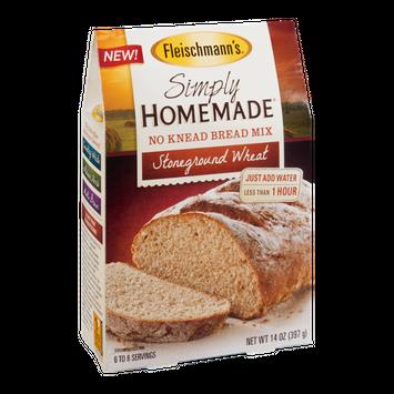 Fleischmann's Simply Homemade No Knead Bread Mix Stoneground Wheat